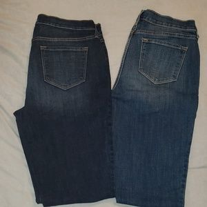 2 pairs size 10 TALL Jean's